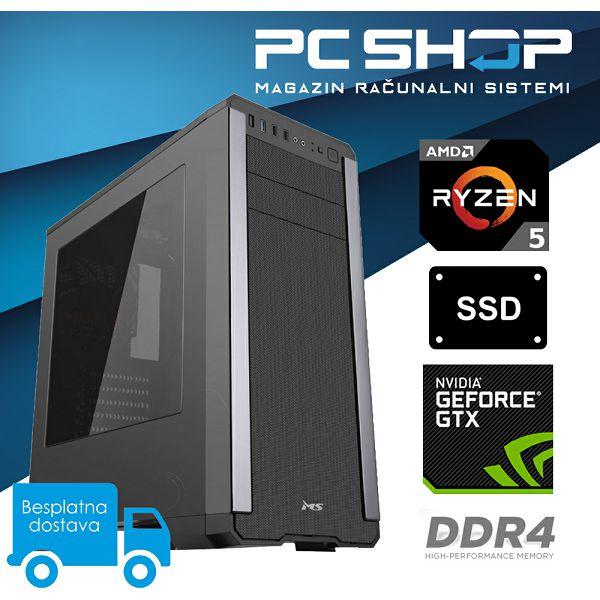 PC Računalo MagazinRS Gamer (Ryzen 5 2600 3.4GHz, GTX 1060, 8GB DDR4 RAM, SSD 240GB)