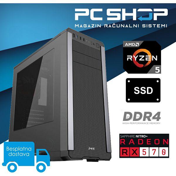 PC Računalo MagazinRS Gamer (Ryzen 5 2600 3.4GHz, Radeon RX 570, 8GB DDR4 RAM, SSD 240GB)
