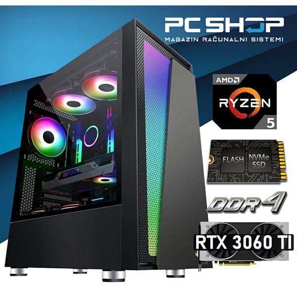 PC Računalo MagazinRS Gamer (Ryzen 5 5600x 4.6GHz (Boost), RTX 3060 Ti, 16GB DDR4 RAM, SSD 500GB NVMe)