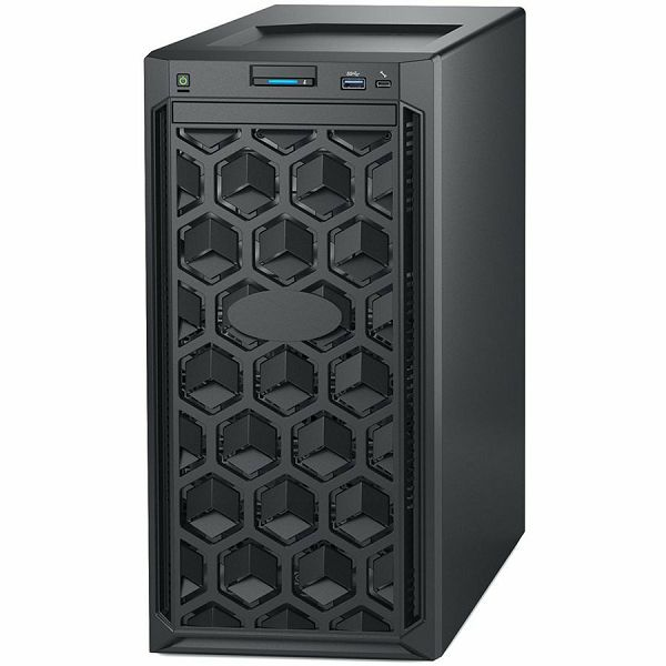 DELL EMC PowerEdge T140 w/4x3.5in, Intel Xeon E-2224 (3.4GHz, 8M cache, 4C/4T, turbo (71W)), 16GB 2666MT/s DDR4, 1TB 7.2K RPM SATA 6Gbps 512n 3.5in, iDrac9 Basic, DVDRW, TPM 2.0, On-Board LOM, 3Y NBD