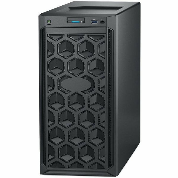 DELL EMC PowerEdge T140 w/4x3.5in, Intel Xeon E-2224 (3.4GHz, 8M cache, 4C/4T, turbo (71W)), 16GB 3200MT/s ECC, 1TB 7.2K RPM SATA 6Gbps 512n 3.5in Cable HDD, iDrac9, TPM 2.0, On-Board LOM, 3Y NBD