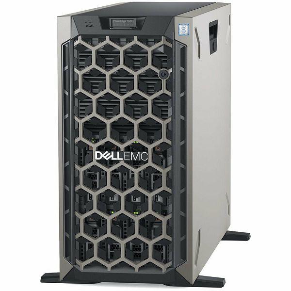 DELL EMC PowerEdge T440 w/8x3.5in, Intel Xeon Silver 4210R(2.4G, 10C/20T, 9.6GT/s, 13.75M Cache, Turbo, HT (100W)), 16GB RDIMM 3200MT/s, 480GB SSD SATA 2.5in Hot-plug, iDrac9 Exp., PERC H730P RAID, DV