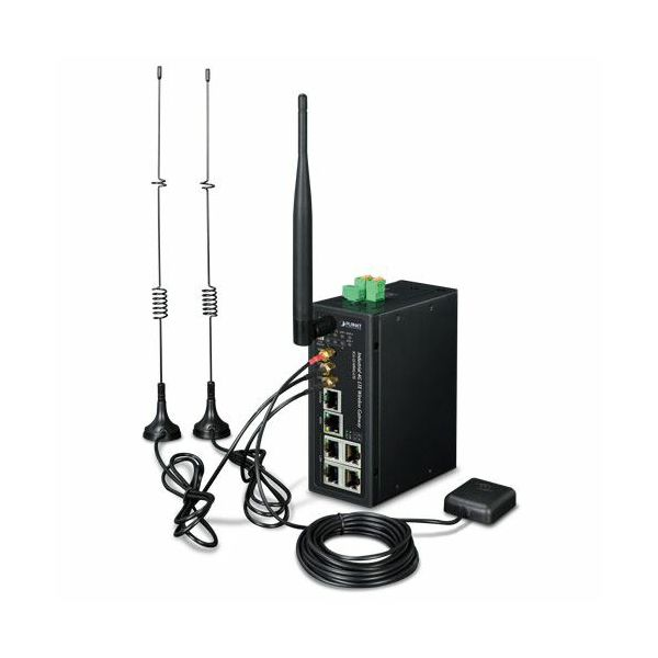 Planet Industrial 4G LTE Cellular Wireless Gateway with 5-Port 10 100 1000T