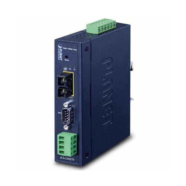 Planet Industrial 1-port RS232 422 485 Serial Device Server with 1-Port 100BASE-FX SFP