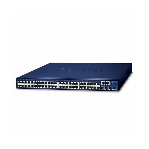Planet Layer 2 48-Port 10 100 1000T 4-Port 10G SFP Stackable Managed Switch