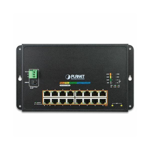 Planet Industrial 4-Port 10 100 1000T 802.3bt PoE 4-Port 10 100 1000T 802.3at PoE 2-Port 100 1000X SFP Wall-mount Managed Switch (-40~75 degrees C)