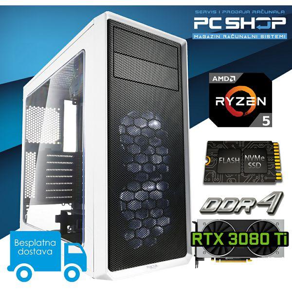 Računalo MagazinRS Diamond PC (Ryzen 5 5600x 4.6GHz (Boost), RTX 3080 Ti 12GB GDDR6X, 16GB DDR4 RAM, HDD 2TB + SSD NVMe 500GB)