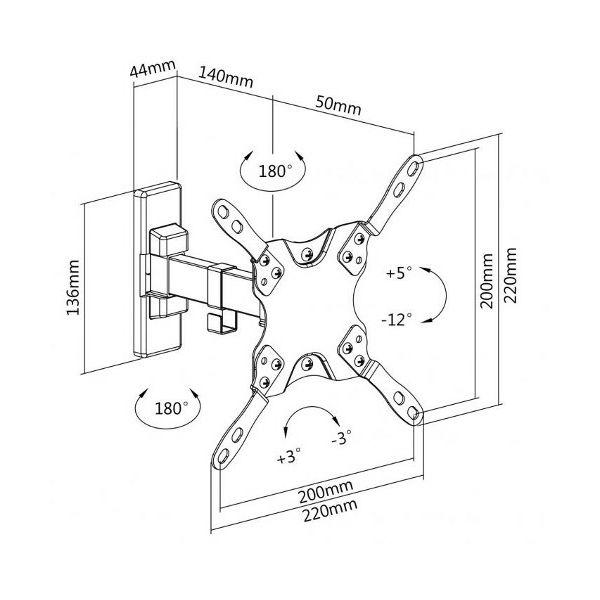 SBOX okretni zidni stalak 13