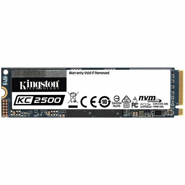Kingston 500GB KC2500 M.2 2280 NVMe SSD, up to 3500/2500MB/s, EAN: 740617307160