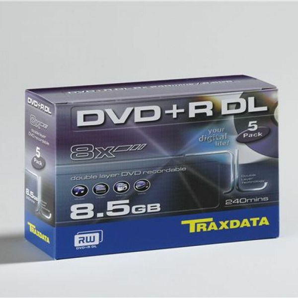 TRAXDATA OPTIČKI MEDIJ DVD+R DUAL LAYER 8X BOX 1