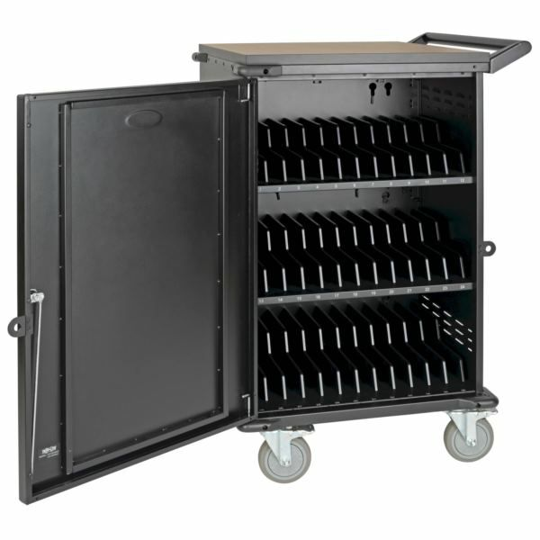 Tripp Lite Multi-Device Charging Cart, 36 AC Outlets, Chromebooks and Laptops, 230V, Schuko Black