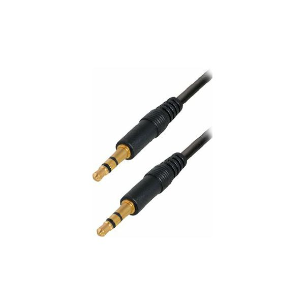 Transmedia Connecting cable. 3,5 mm 0,6m gold plated plugs
