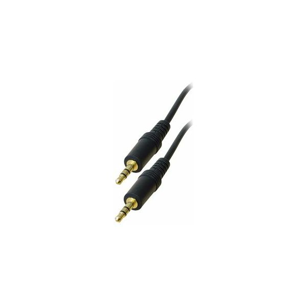 Transmedia Connecting cable. 3,5 mm 1,5m gold plated plugs