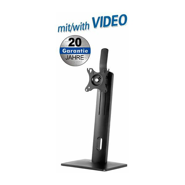 Transmedia Height adjustable desk stand for flat screens with spring system