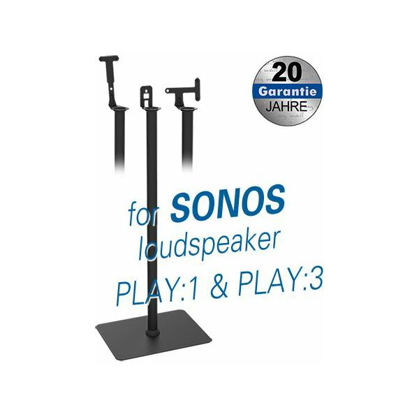 Transmedia Stand for Sonos Play:1 and Play:3 loudspeakers Black