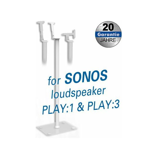 Transmedia Stand for Sonos Play:1 and Play:3 loudspeakers White