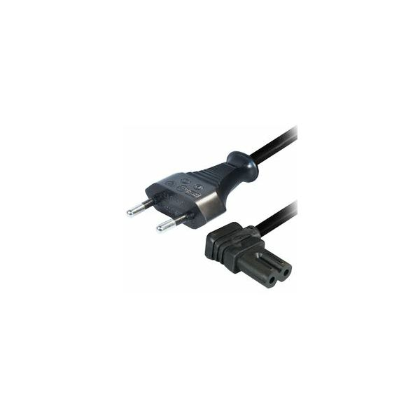 Transmedia AC Power Cord 1,5m, Angled