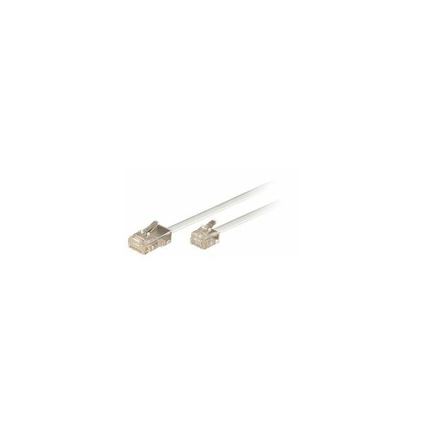 Transmedia Connecting Cable Western 8 4 to 6 4, 10m, White