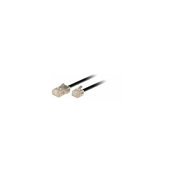 Transmedia Connecting Cable Western 8 6 to 6 6, 3m, Black