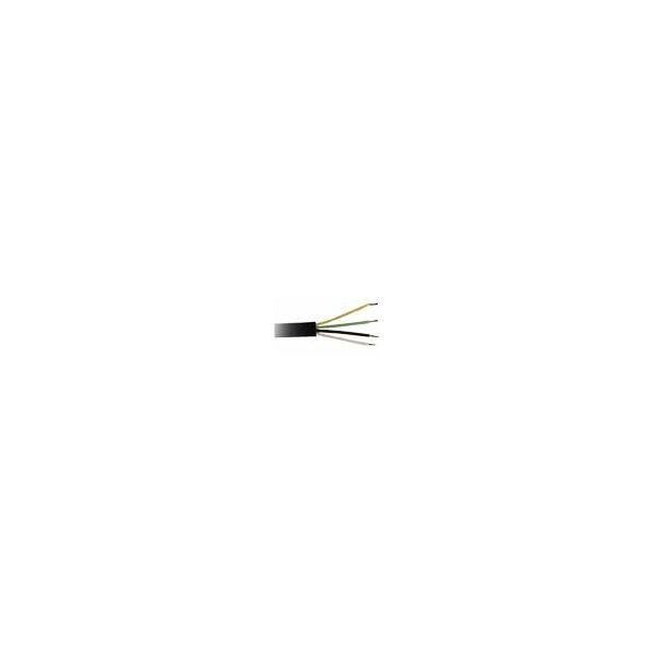 Transmedia Telephone cable black, coil packing, 25m