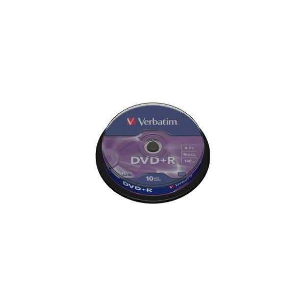 DVD+R Verbatim 4.7GB 16× Matt Silver 10 pack spindle