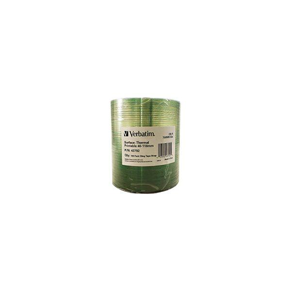 CD-R Verbatim 700MB 52× DataLife+ Thermal Printable No ID 100 pack wrap