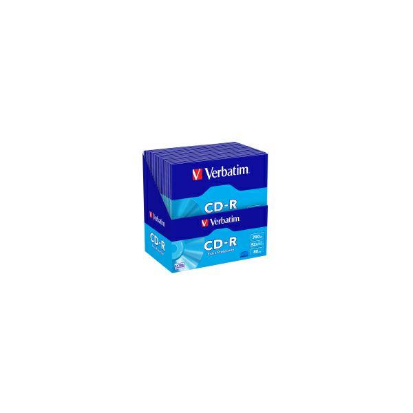 CD-R Verbatim 700MB 52× Extra protection, pakiranje u kartonskoj košuljici, 50 komada