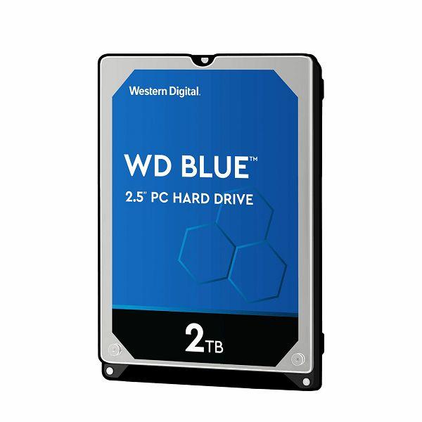 WD Blue Mobile 2TB HDD 7mm 5400Rpm SATA 6Gb/s seri