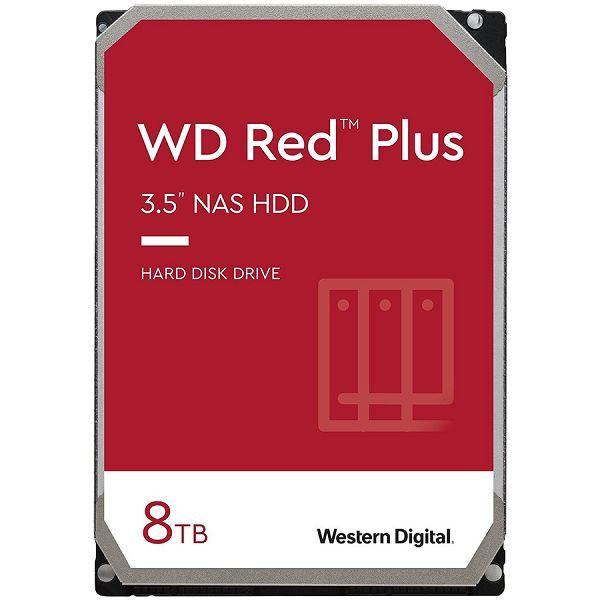 HDD NAS WD Red Plus (3.5, 8TB, 256MB, 7200 RPM, SATA 6 Gb/s)
