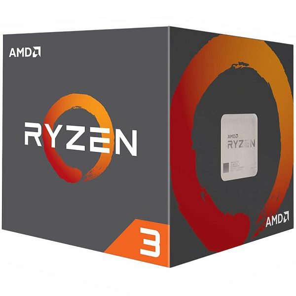 Procesor AMD CPU Desktop Ryzen 3 4C/4T 1200 (3.1/3.4GHz Boost,10MB,65W,AM4) box, with Wraith Stealth cooler